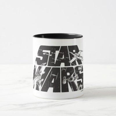 Star Wars Logo | X-Wing & TIE Fighter Battle Mug