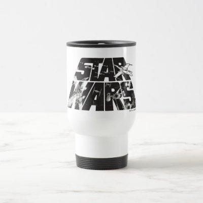 Star Wars Logo | X-Wing & TIE Fighter Battle Travel Mug