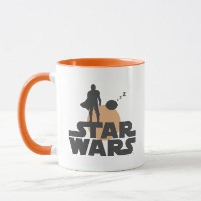 Star Wars Mandalorian Dark Outline Title Zs Mug