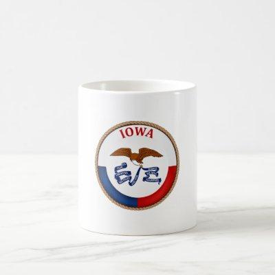 State of Iowa Flag Seal Coffee Mug