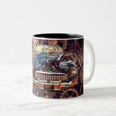 Steampunk Antique Buick Mug