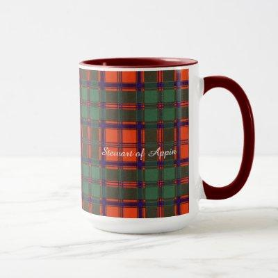 Stewart of Appin clan Plaid Scottish tartan Mug