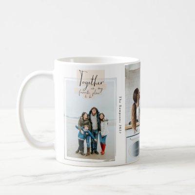 Stick Together Family Keepsake 3 Photo Collage Coffee Mug