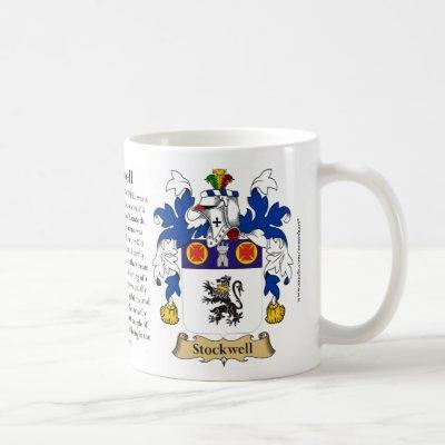 Stockwell, the Origin, the Meaning and the Crest Coffee Mug
