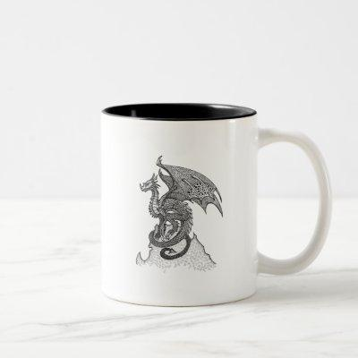 Stoic Dragon Two-Tone Coffee Mug