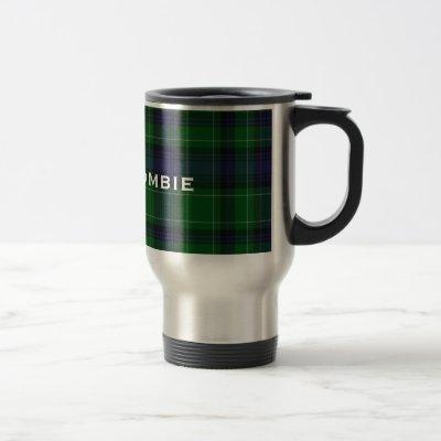 Stylish Blue & Green Abercrombie Tartan Plaid Travel Mug