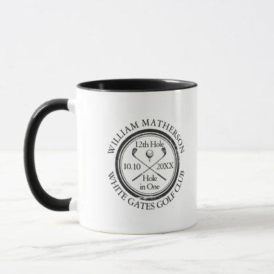 Stylish Hole in One Personalized Golf Mug