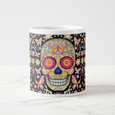Sugar Skull Jumbo Mug - Day of the Dead Art