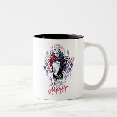 Suicide Squad | Harley Quinn Inked Graffiti Two-Tone Coffee Mug