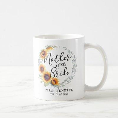 Sunflower Bloom | Mother of the Bride Coffee Mug