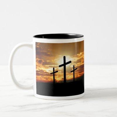 Sunset Cross Two-Tone Coffee Mug