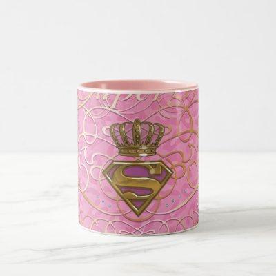 Supergirl Pink Two-Tone Coffee Mug
