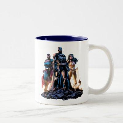 Superman, Batman, & Wonder Woman Trinity Two-Tone Coffee Mug