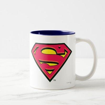 Superman S-Shield | Classic Logo Two-Tone Coffee Mug