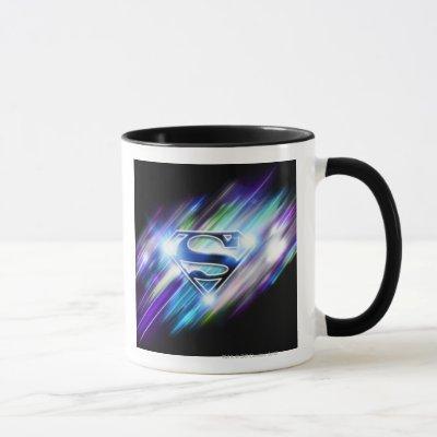 Superman Stylized | Shiny Blue Burst Logo Mug