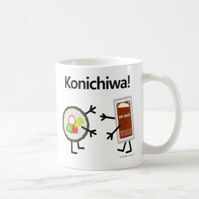 Sushi & Soy Sauce - Konichiwa! Coffee Mug