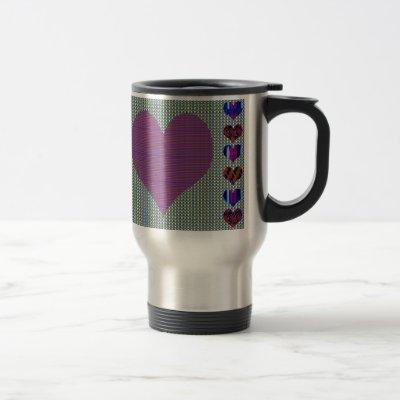 Sweet Heart Purple Travel Mug