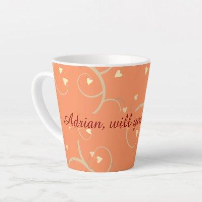 Sweethearts Surprise Marriage Proposal Custom Latte Mug