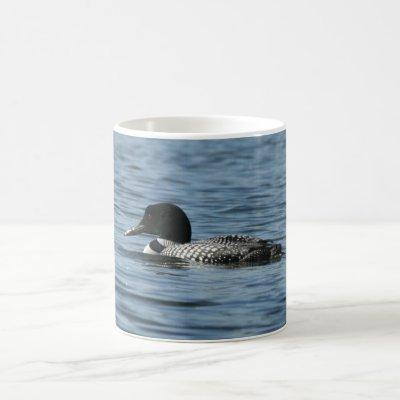 Swimming Loon Coffee Mug