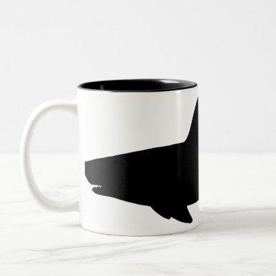 Swimming Shark Two-Tone Coffee Mug