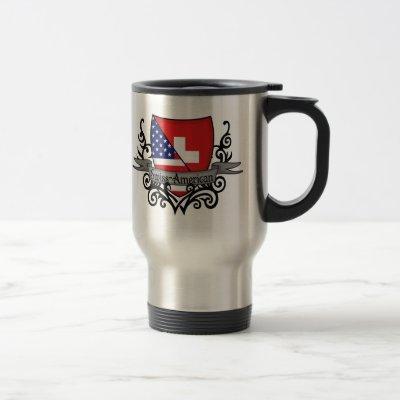 Swiss-American Shield Flag Travel Mug