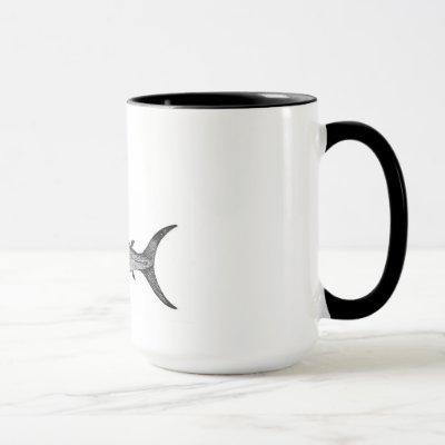 swordfish mug, scientific illustration mug