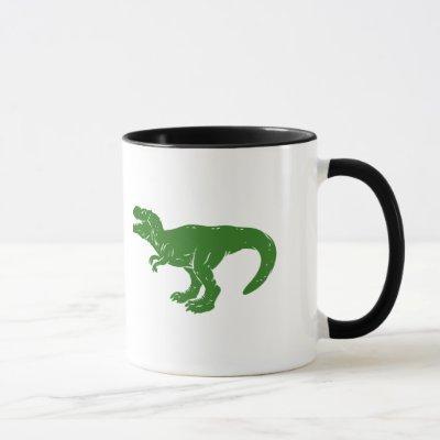 T rex dinosaur - Choose background color Mug