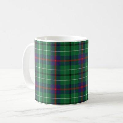 Tartan Clan Duncan Plaid Green Red Blue Check Coffee Mug