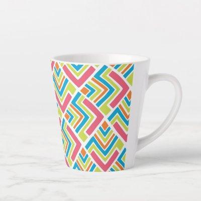 Taza de café latte - Patrón Boomerang Latte Mug
