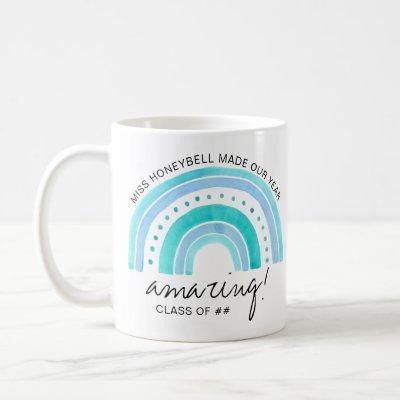 Teacher Name Amazing Class of   Doodle Rainbow Coffee Mug