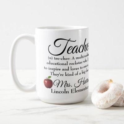 Teacher Rockstar custom Coffee Mug