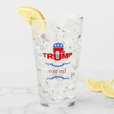 Team Trump Republican Glass