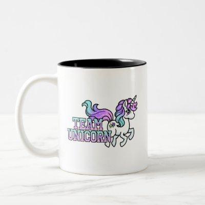 Team UNICORN Two-Tone Coffee Mug