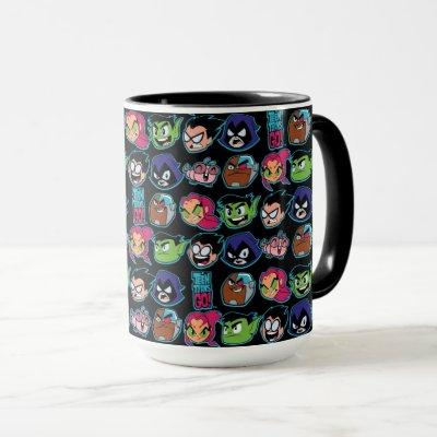 Teen Titans Go! | Titans Head Pattern Mug