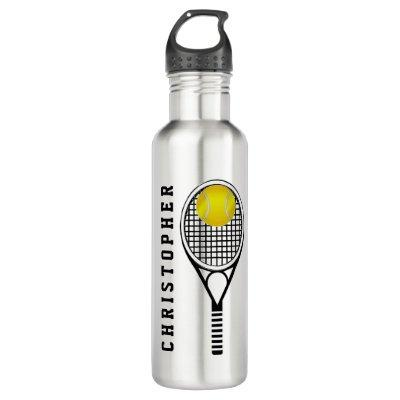 Tennis Personalized Name or Monogram Water Bottle