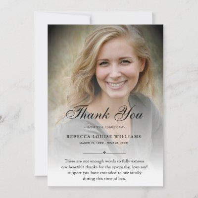 Thank You Custom Funeral Photo Sympathy Grief Loss