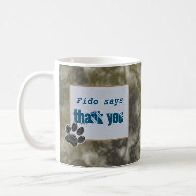 Thank You Dog Walker Black Paw Thanks Pet Sitter Coffee Mug