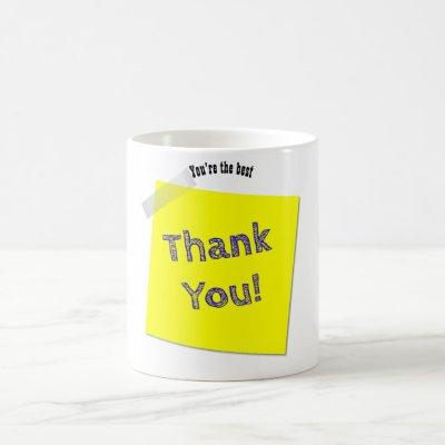 Thank You Gift For Man - Sticky Note -Customizable Coffee Mug