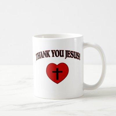 Thank You Jesus (Heart) Coffee Mug