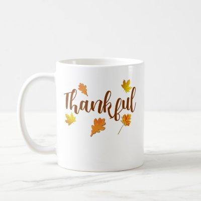 Thankful Thanksgiving Fall Harvest Coffee Mug