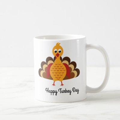 Thanksgiving cartoon turkey Coffee mug