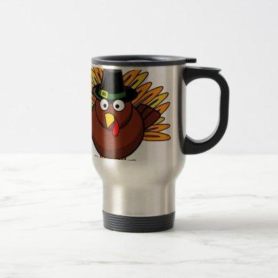 Thanksgiving Turkey Logo Create a Holiday Gift Travel Mug