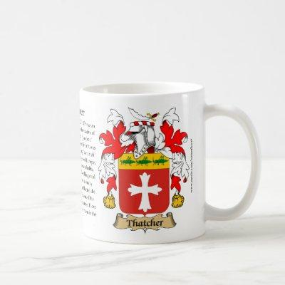 Thatcher, the Origin, the Meaning and the Crest Coffee Mug