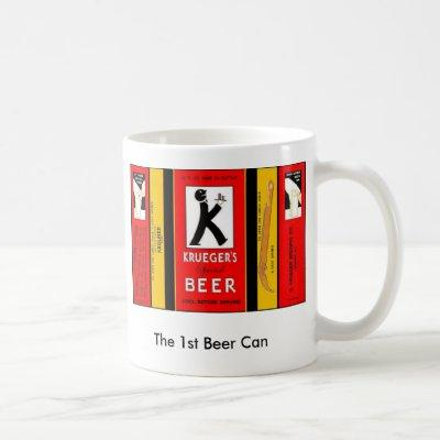 The 1st Beer Can KRUEGER SPECIAL Newark New Jersey Coffee Mug