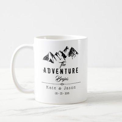 The Adventure Begins | Rustic Wedding Mug