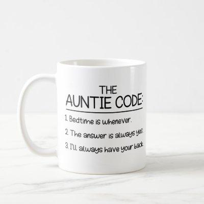 The Auntie Code, Gift For Aunt Coffee Mug