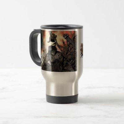 The Bobcat V1 design travel mug