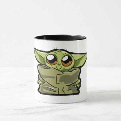 The Child Cute Cartoon Sketch Mug