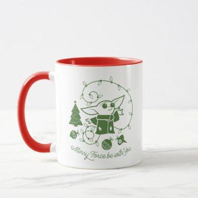 The Child | Merry Force be with You - Green Mug