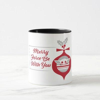The Child | Merry Force Be With You Ornament Mug